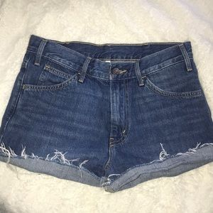 Levis high waisted shorts!